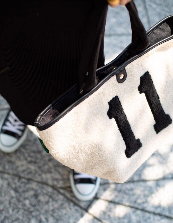 ナンバー11 ボア 舟形トートバッグ【bearia L  ベアリア Lサイズ】 大きい A4 通勤通学 レディース